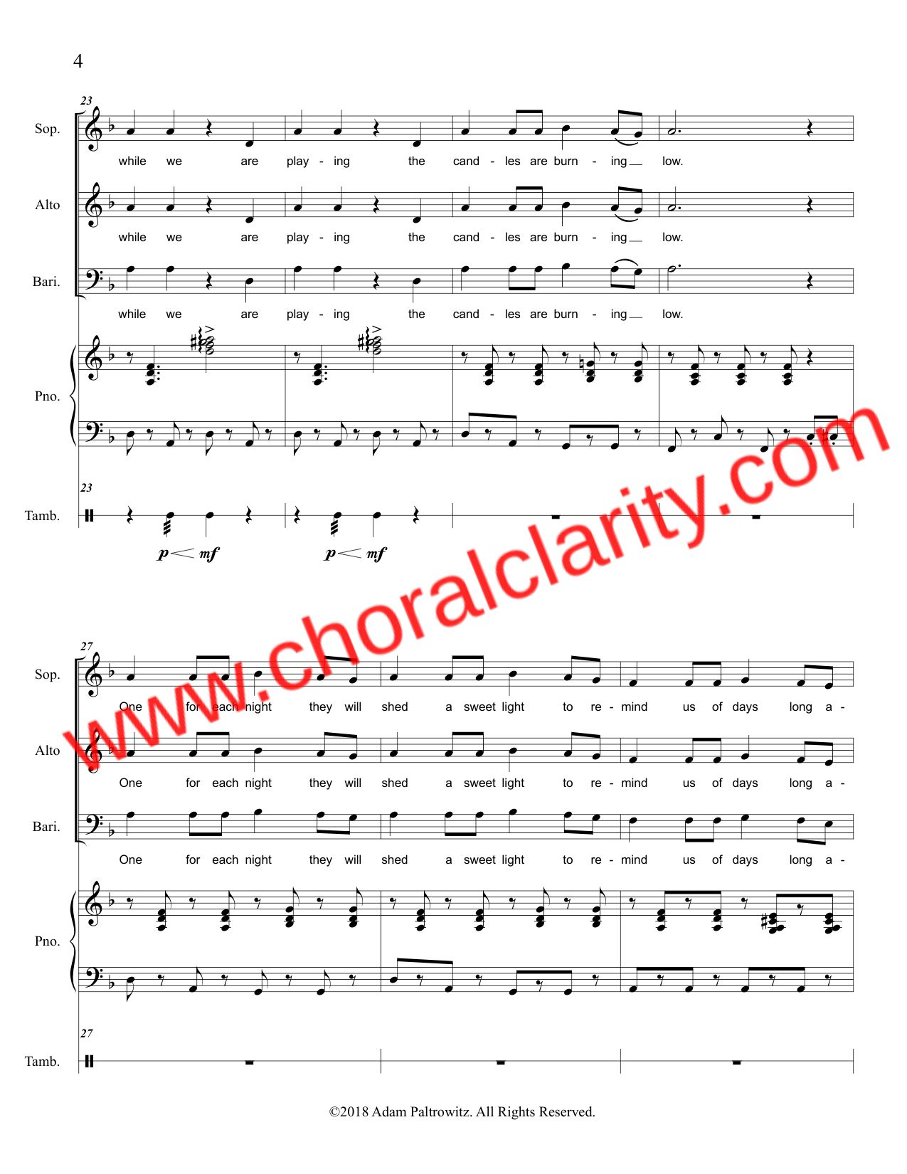 Choral Clarity WatermarkOh Hanukkah SAB-4