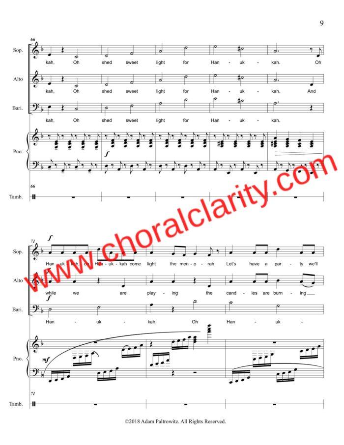 Choral Clarity WatermarkOh Hanukkah SAB-9